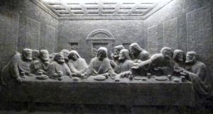 Last Supper carving in Kinga's Chapel