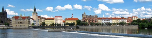 Prague Old Town, from the Vltava River