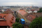 Zagreb rooftops and stuck funicular